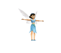Cera low polly model in Tinker Bell DS