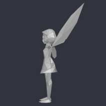 Tinker Bell (DS Game) - Low Poly Model - Qana 4