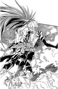 Allen stabbed by Kanda