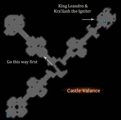 Castle Valance Map