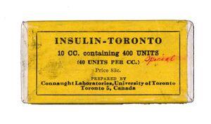 Toronto insulin ca 1930