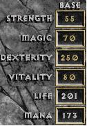 D1 rogue max stats