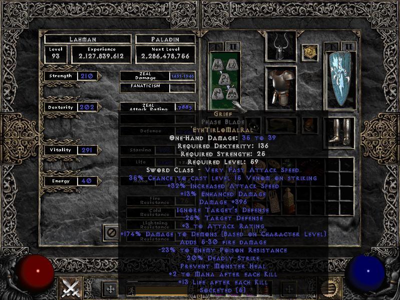 Grief Rune Word Diablo Wiki Fandom Powered By Wikia