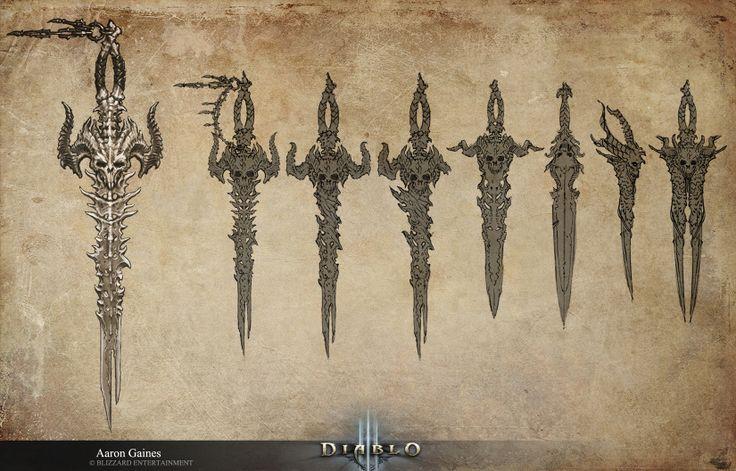 Diablo Items Concept Art