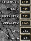 D1 warrior max attributes
