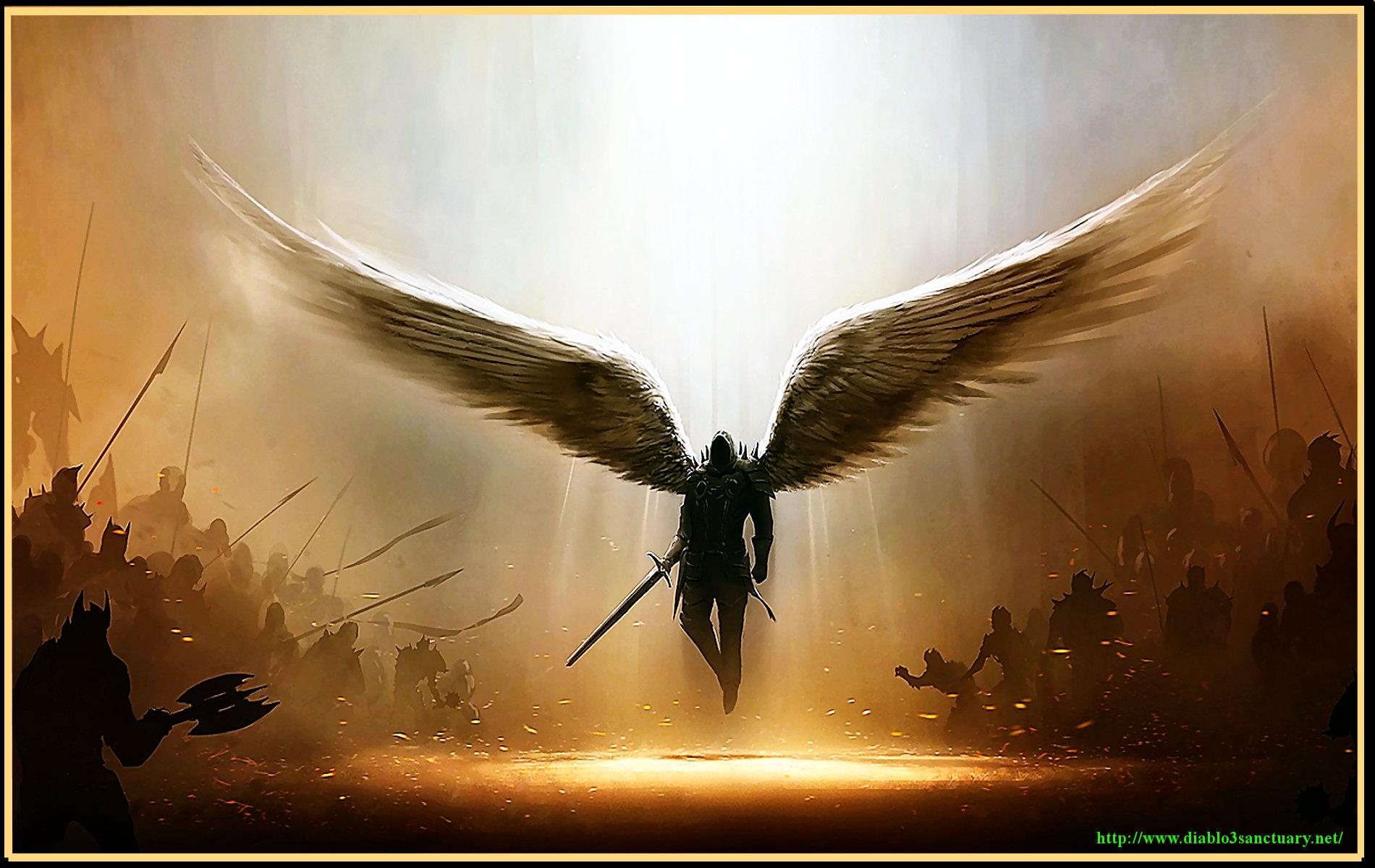Diablo 3 Wallpaper Tyrael Angel WideScreen 1920x1200 1920x1080