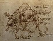 Horned Ground Sloth Artwork