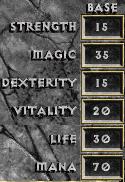 D1 sorceror base attribute