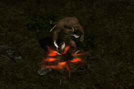 An assassin in Werebear form, with Fanaticism aura, Fade, and Blade Shield active