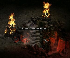 Stairs to river of flame