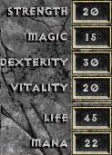 D1 rogue base attributes