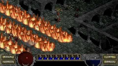 Diablo 1 spells - Fire Wall (by Decimius)
