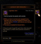 Legacy of Dreams Inventory Max Level
