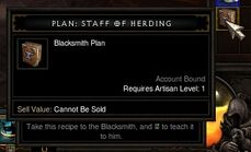 Staff of Herding Plans Close Up