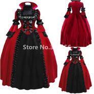 Renaissance-Reenactment-Masquerade-Wine-Red-font-b-Dress-b-font-Halloween-Queen-font-b-Vampire-b