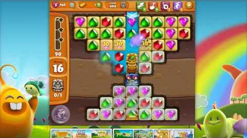 Diamond Digger Saga Level 494 (NEW ice blocks, still too difficult!)