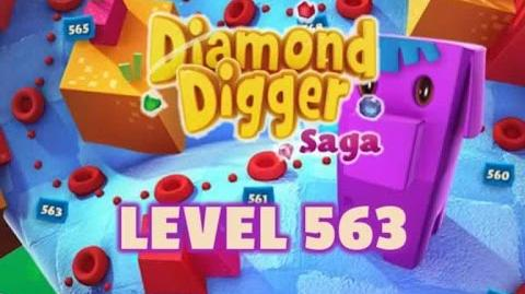Diamond Digger Saga Level 563 - Score 49,200