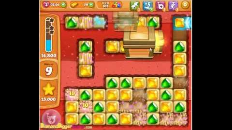 Diamond Digger Saga Level 105 Walkthrough