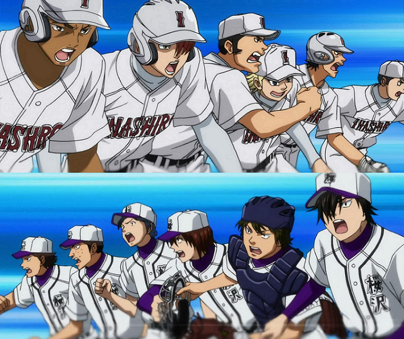 Diamond No Ace Outfit: Sakurazawa High Vs. Inashiro Industrial