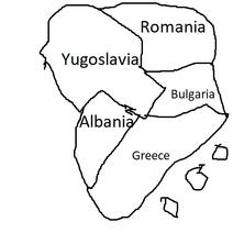 Balkan map 1980
