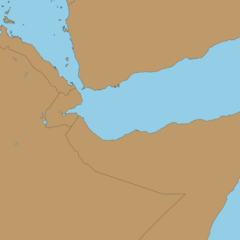 Border map of the Gulf of Aden in 2019 AD by <a class=