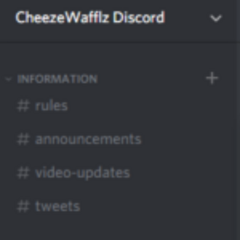 The server's channels in December 2017.