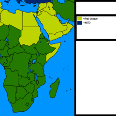 Map of Africa and the Middle East with Alliances