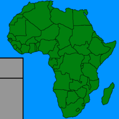 Africa Map(Hand Drawed)