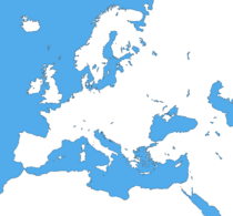 Map of Europe (No Borders) By Wacky Catholic