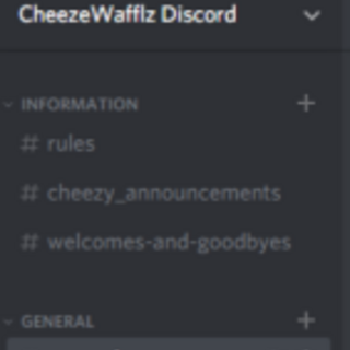 The server's channels in March 2018.