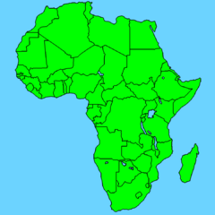 Africa Map (without names)