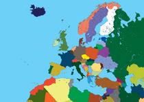 High detalied map of europe