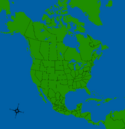 America Map WIth States, provinces and territories