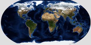 Robinson Terrain Map