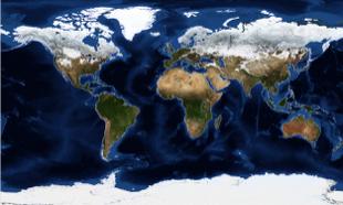 Braun Stereo World Terrain Map