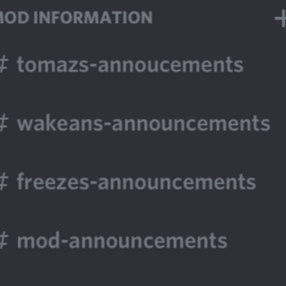 The moderators' announcement channels in April 2018.
