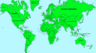 World Map with name!