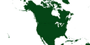 Curved North America Map