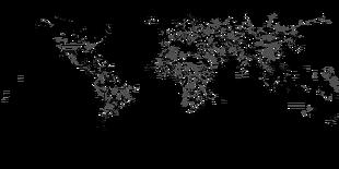 Equirectangular Provinces Map Simple 2019