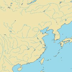 River map of Eastern Asia.