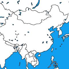 <b>Blank Map of Asia</b> by <b>Alexander Mapping</b>