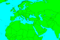 Europe,Half of Africa,Central and Western Asia