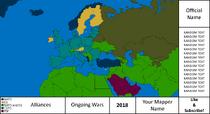 Intercontinental Map - 2018 Green