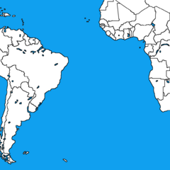 <b>Blank Map of Latin America & Sub-Saharan Africa</b> by <b>Alexander Mapping</b>