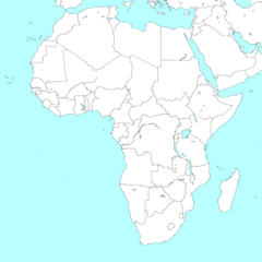 Map of Africa with borders