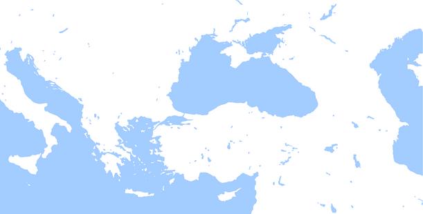 Blank map of Black Sea region
