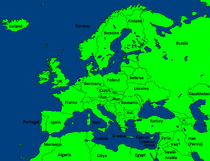 Modern Europe with names