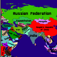 Map of Asia I'll use in my videos(Font: AR Destine)