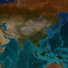 Asia terrain map