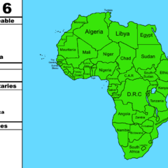 Map of Africa w/infobox by GeoMapper